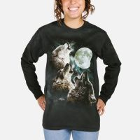 Three Wolf Moon Long Sleeve T-shirt | Long Sleeve Wolf T-Shirts | The Mountain®